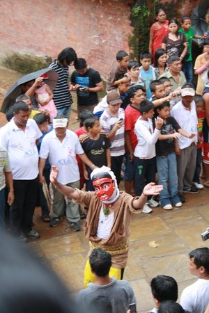 Kirtipur Hillside Hotel & Resort: famous mask dance on every year in August