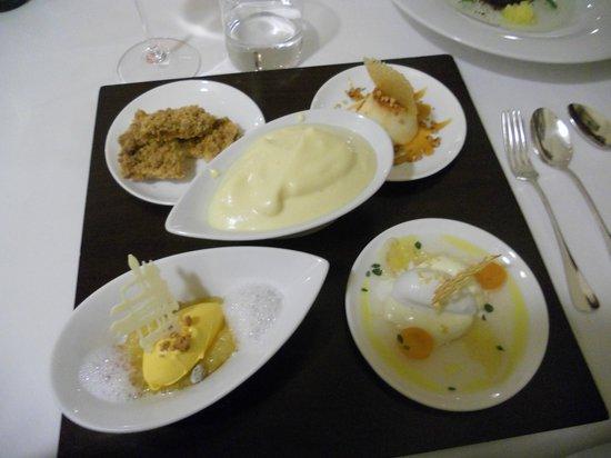 Sissi - Andrea Fenoglio: Degustazione quattro dolci con sbrisolona e zabaione