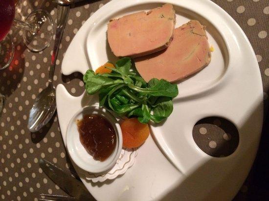 La Baraque a Boeuf: Foie gras avec confiture de figue ! Un délice
