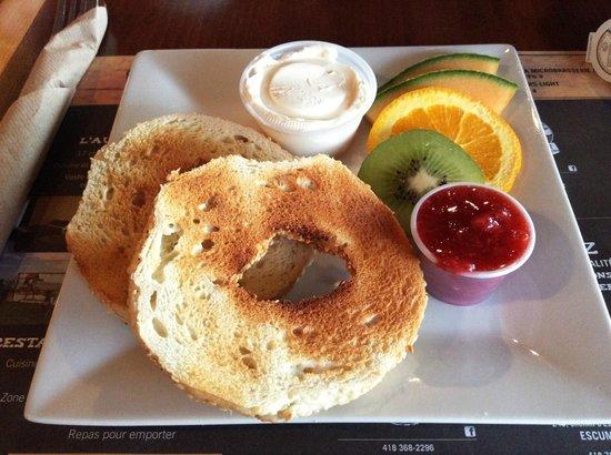 Auberge du Marchand : petit déj: bagels