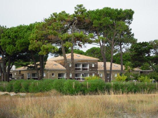 Hotel La Lagune : Hotel vom Strand aus gesehen