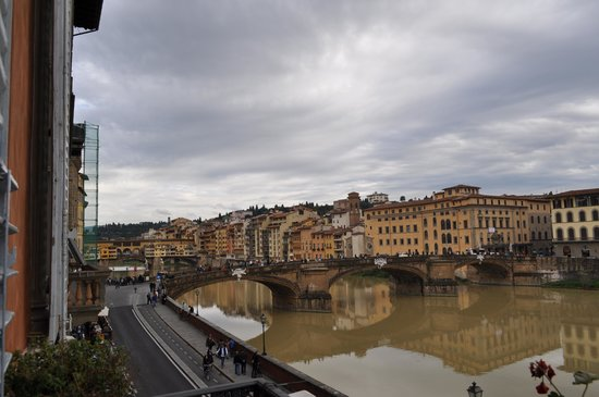 View from Hotel Bretagna Reception