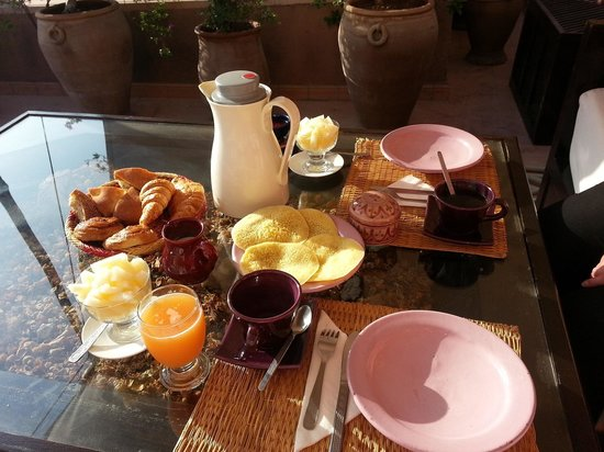 Riad Massiba : petit dejeuner