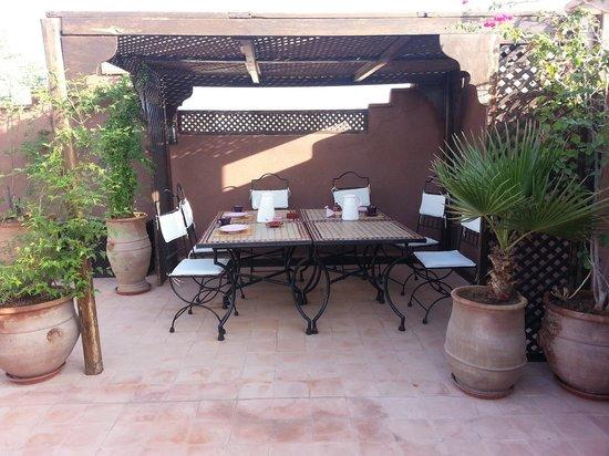 Riad Massiba: terrasse