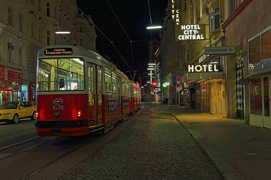 Hotel City Central: Eingang Taborstrasse