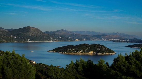 Hotel Bozica: View from top of Sipan over to Dubrovnik
