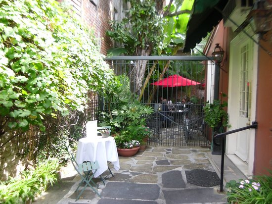 Bayona's side entrance with the courtyard seen out back
