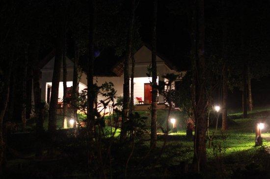 Niraamaya Retreats Cardamom Club - Thekkady : cottage at night