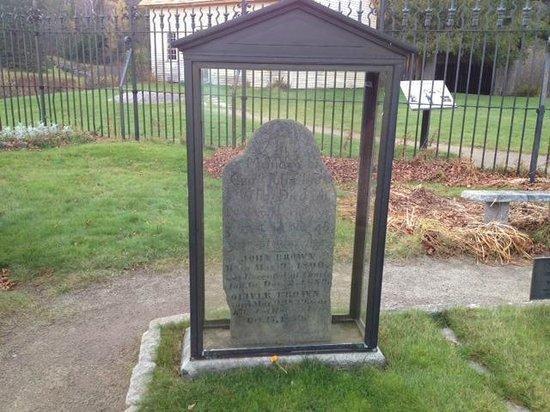 John Brown Farm State Historic Site: John Brown's gravestone