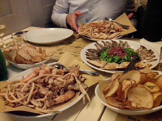 Osteria del Gran Fritto: see food fritto misto galore