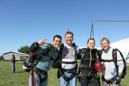 Westside Skydivers Houston : Alex, Dad, Me and Bob