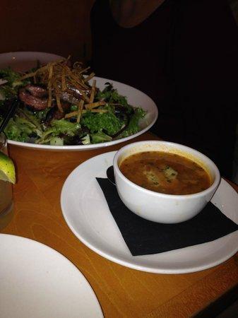 Kaya: soup and sandwich