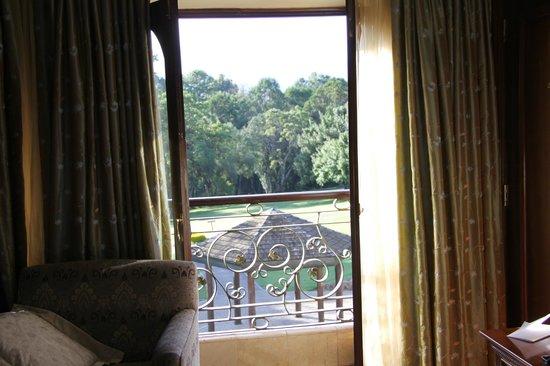 Fairmont Mount Kenya Safari Club: on 2nd floor open window to view