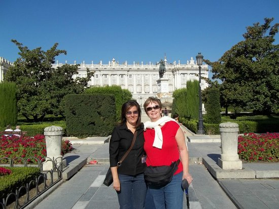 Letango Spain Tours - Private Day Tours : Ines and I in front of the Royal Palace