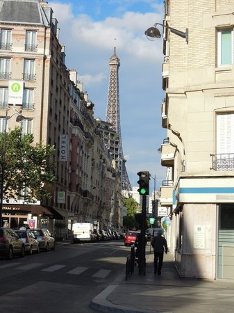 Eiffel Saint Charles: View from front of hotel