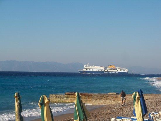Petit Palais : Nearest beach to hotel with ferry leaving from Mandraki