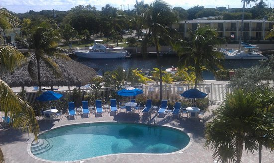 Courtyard Key Largo: View from our room.