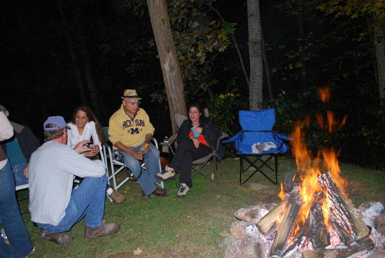 The Cabins At Crabtree Falls: Telling tall tales at the campfire by the cabins