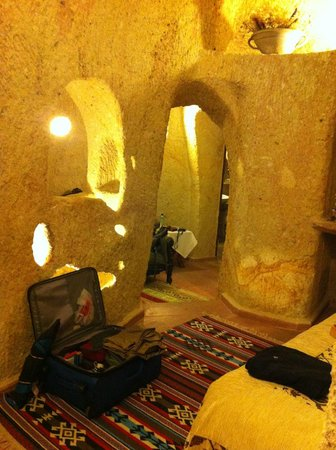 Hotel Cave Konak : View from bedroom into private sitting area