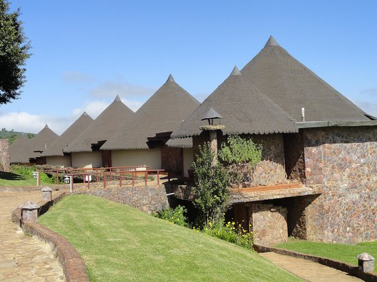 "Ngorongoro Sopa Lodge: the two-storey ""huts"""