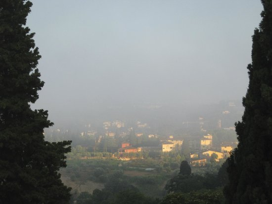 Villa Agape: Dawn afar from garden-view room-window