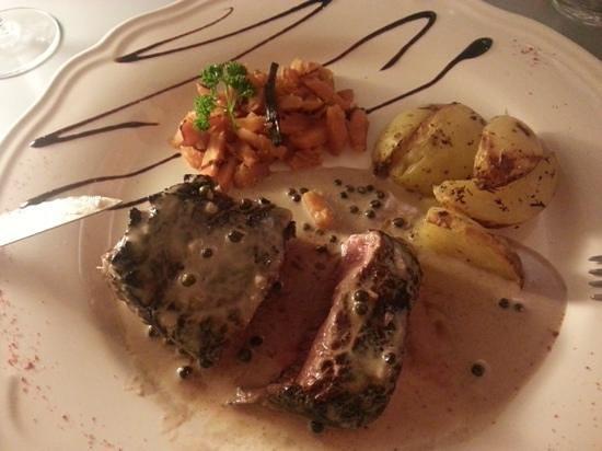Le Domaine des dames: filet de boeuf menu a 32€