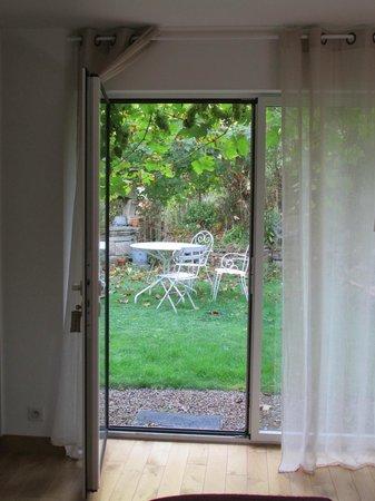 La Ferme de Kerscuntec : vue sur le jardin privatif