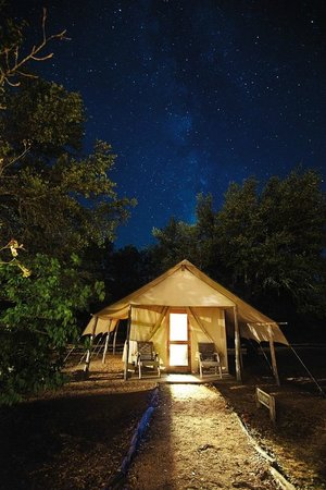 Stay a night on the wild side at the Foothills Safari Camp at Fossil Rim!
