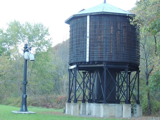 Old Clark Inn: old train water tower on Greenbriar trail