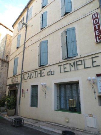 Acanthe du Temple Hotel : Front Entrance