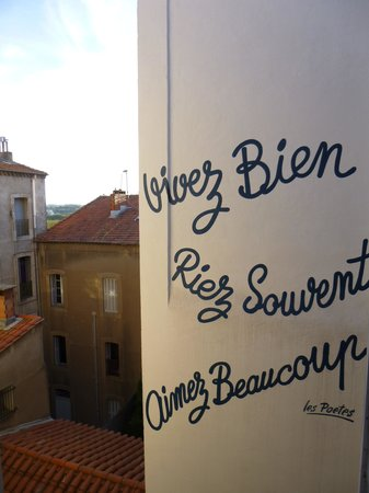 """Hotel des Poetes : The """"fabulous"""" view out our window (we could see & hear all the neighbours)"""