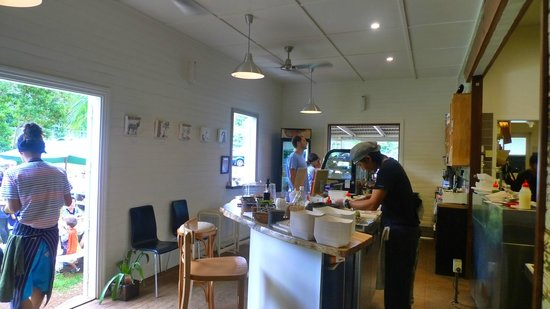 DOMA Cafe : Where you order and the open plan kitchen