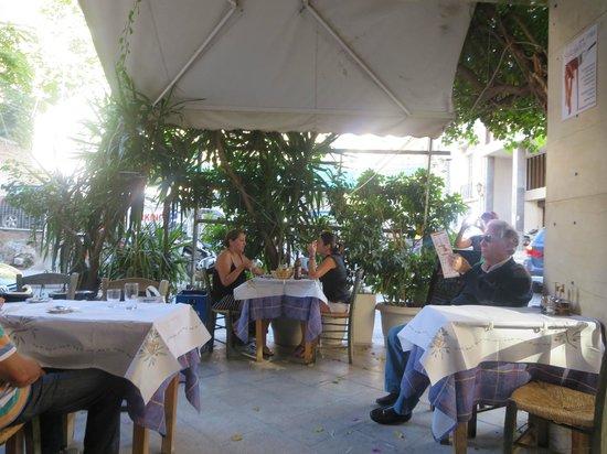 Evgenia: Outdoor seating scene