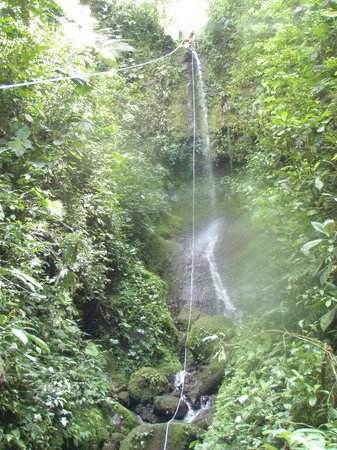 Desafio Adventure Company: One of the waterfalls to rappel