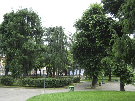 Hotel Florence: Park in front of hotel