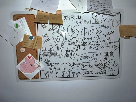 Kimchi Guesthouse: Messages from the guests