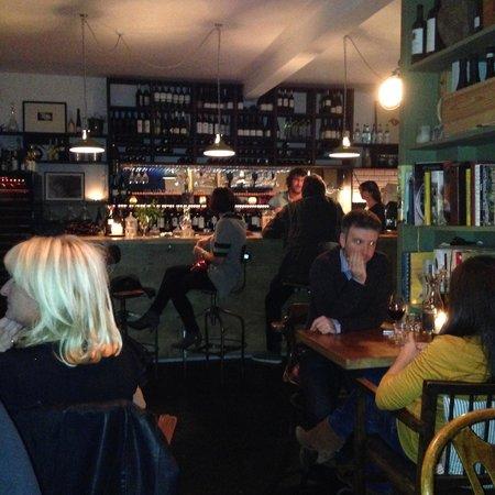The Black Pig Winebar: The bar