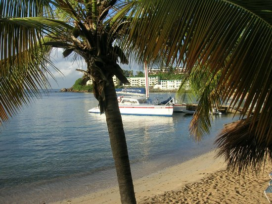"Bolongo Bay Beach Resort: View of sailboat, ""Heavenly Days"