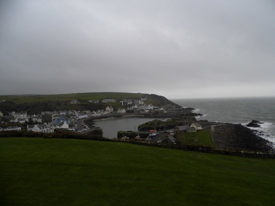 The Portpatrick Hotel : View from path going from hotel to Portpatrick village