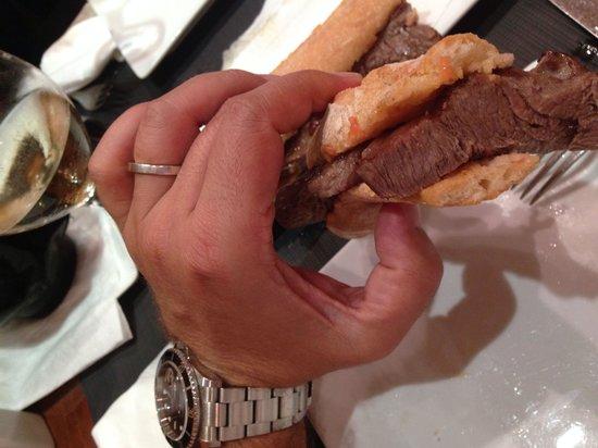 A Taberna do Bispo: Flauta de solomillo de ternera...
