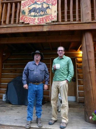 Skyline Guest Ranch and Guide Service : Vic Jackson, proprietor, with guest, John.