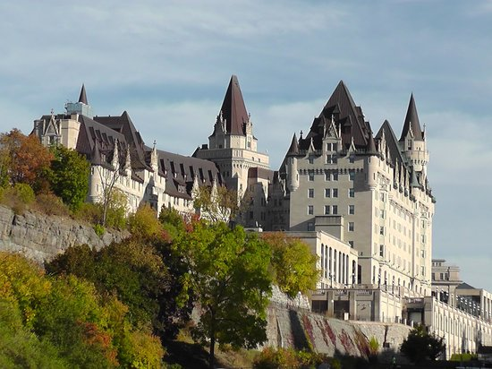 Fairmont Chateau Laurier: looking majestic from the river