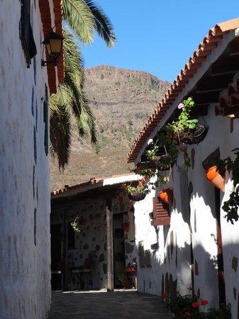 Finca Molino de Agua Hotel Rural Restaurante: ,petite ruelle longeant les différentes chambres de l'hôtel