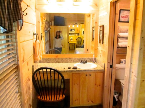 Cabins of Asheville: Vanity/Bathroom sink