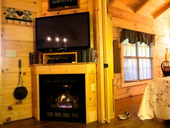 Cabins of Asheville: Fireplace with 0-60 min timer