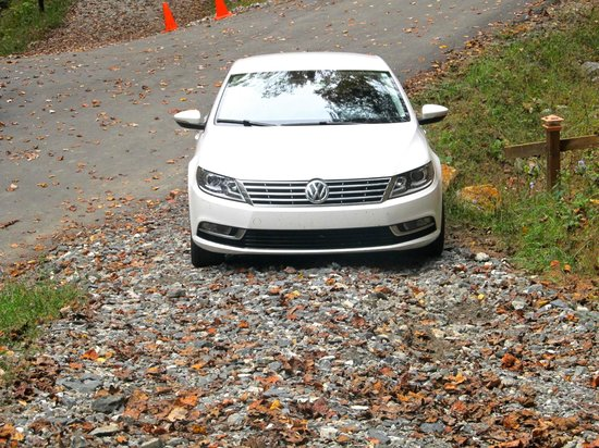 Cabins of Asheville: Driveway with an uphill climb