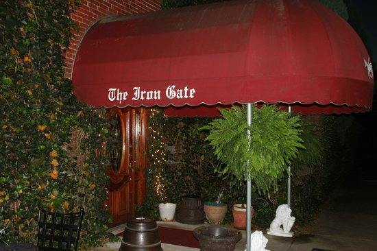 The Iron Gate Grille: Patio entrance to the restaurant