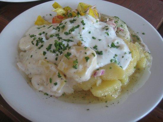 """Oesterreicherhaus: """"Mixed"""" salad - sweet cream mayo w/white vinegar"""