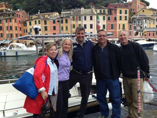 Portofino Taxi Boat: Us with Andreas