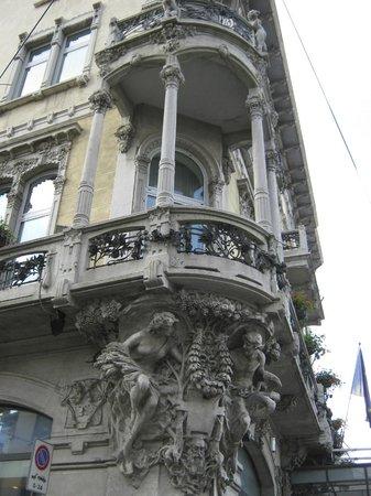 Hotel Grand Italia Residenza d'Epoca: Architectural detail of Hotel Grand'Italia